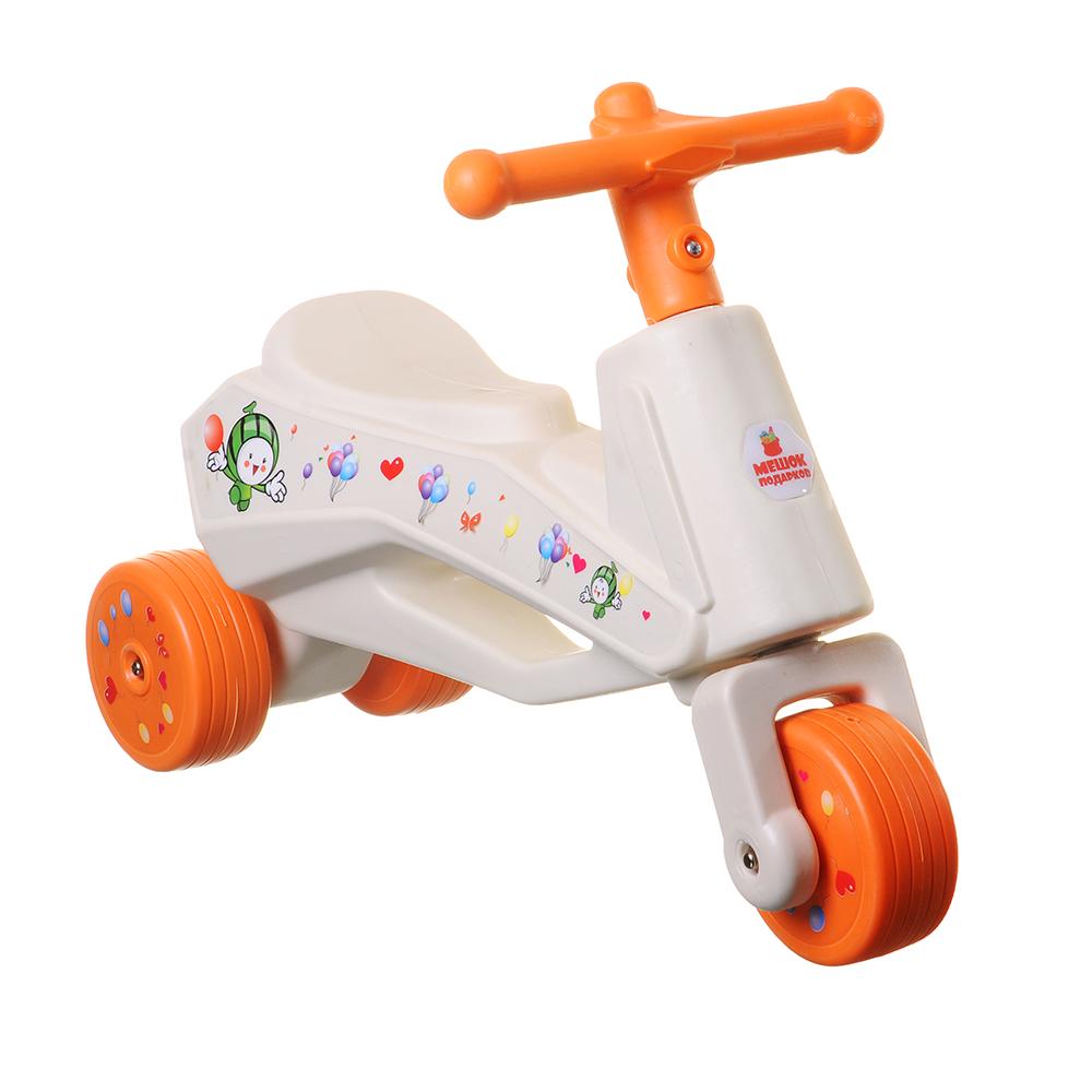 Толокар детский, пластик, колеса резина, 58х20х40см, 3 цвета - 2