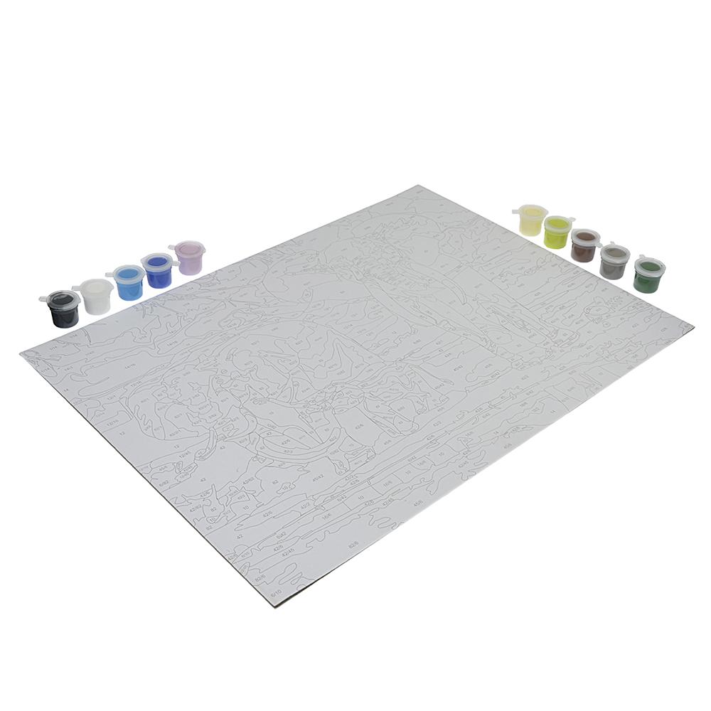 РЫЖИЙ КОТ Раскраска по номерам Большие картины: эскиз, 7 акриловых красок, кисть, 33,5х41см, 4 дизай - 2