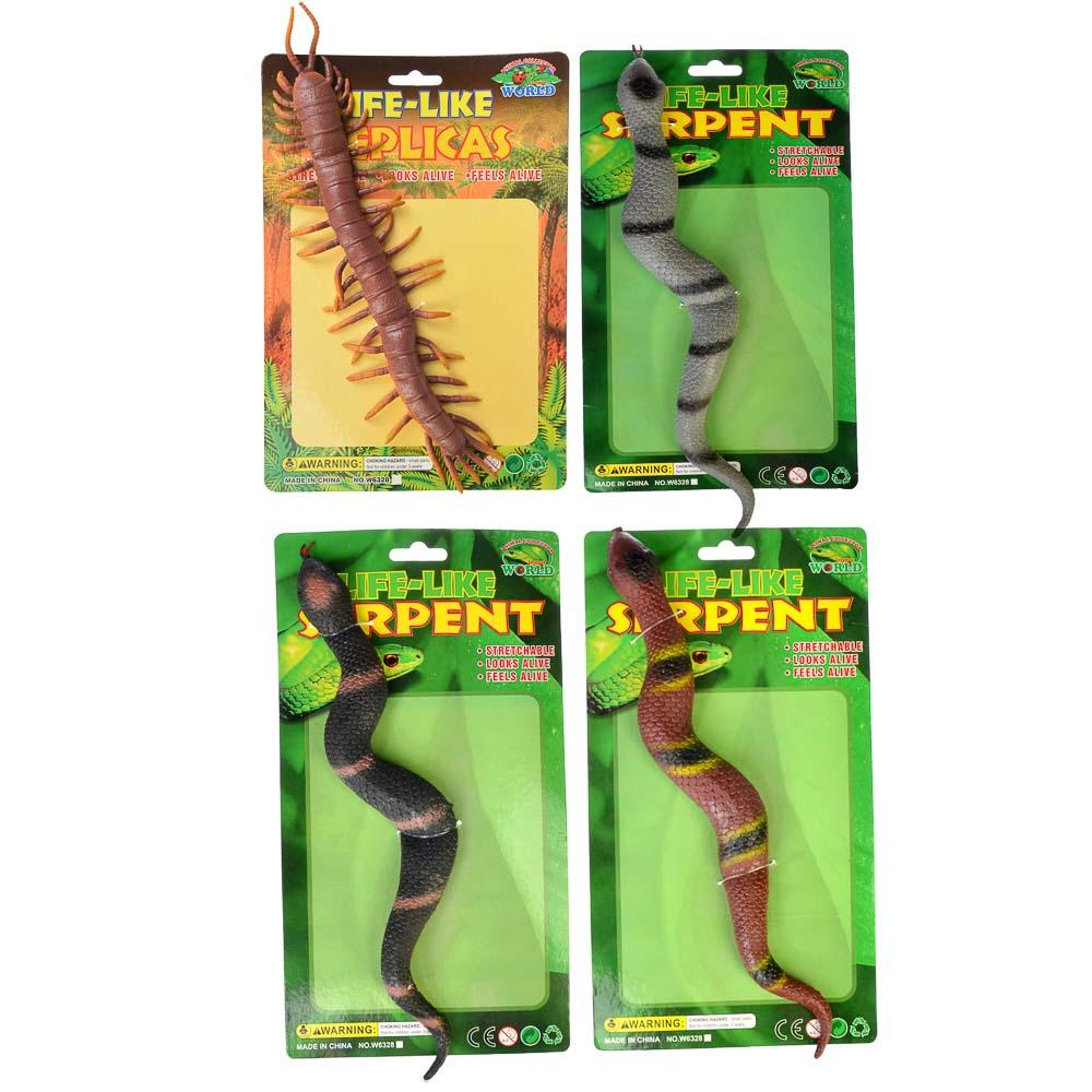 Фигурка Змея, резина, 3,5х33х1,5см, 4 дизайна - 3