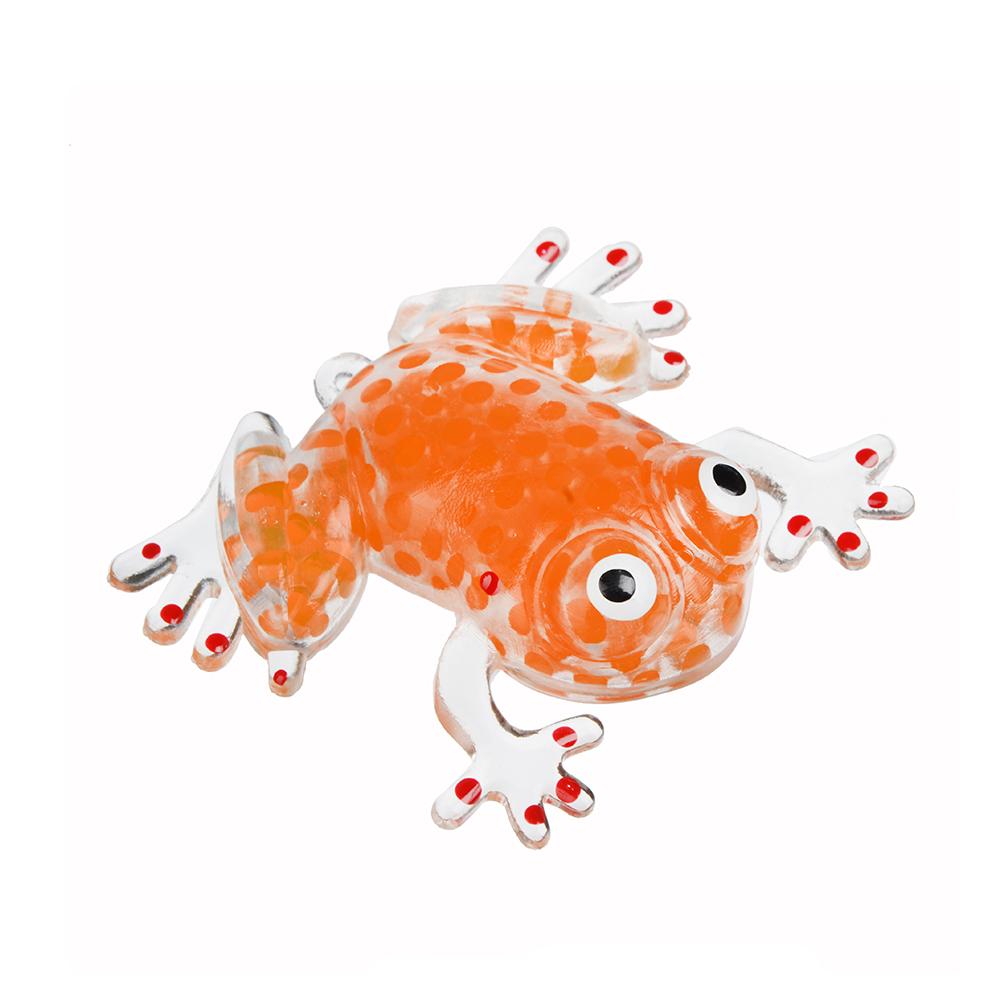 Мялка в виде Лягушки с шариками, резина, 8,5х7х1,3см, 4-6 цветов - 2