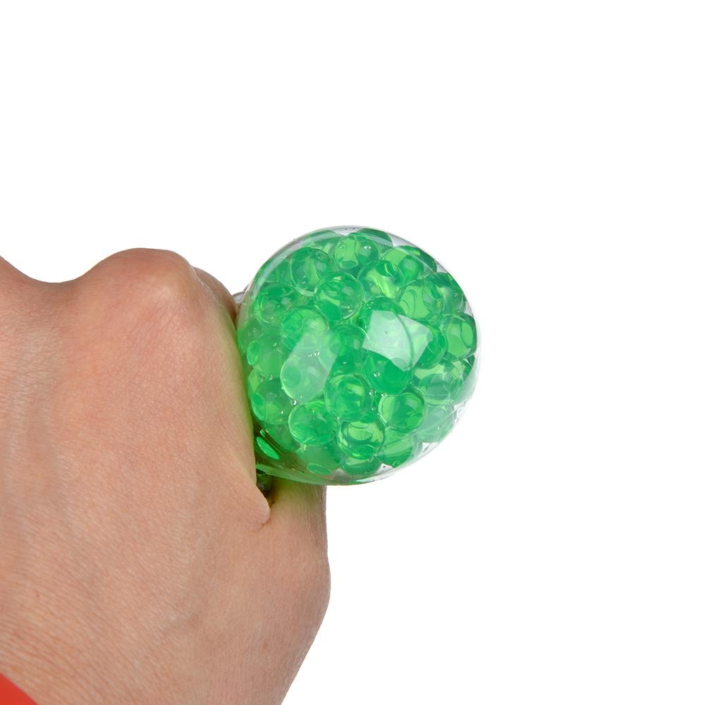 Мялка в виде Лягушки с шариками, резина, 8,5х7х1,3см, 4-6 цветов - 3