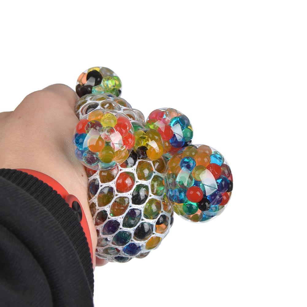 Мялка с шариками, резина, 7х7х7см, 6 цветов - 2