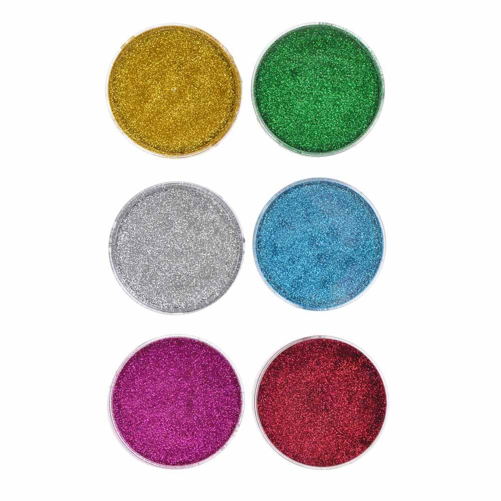 Лизун твердый с блестками 50гр., полимер, 7х7х2см, 6 цветов - 2