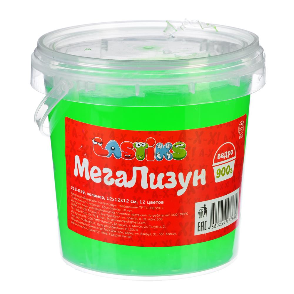 LASTIKS МегаЛизун, ведро 900г, полимер, 12х12х12 см, 12 цветов - 2