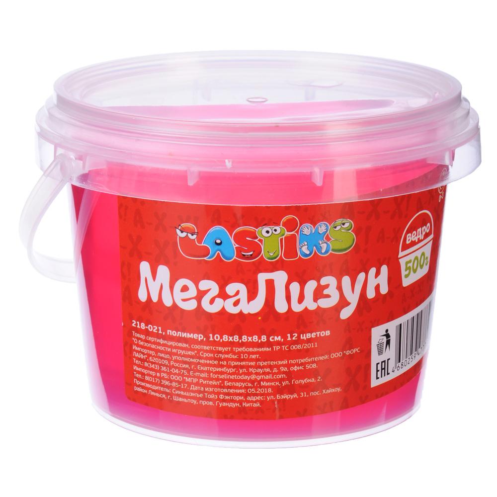 LASTIKS МегаЛизун, ведро 500г, полимер, 10,8х8,8х8,8 см, 12 цветов - 2