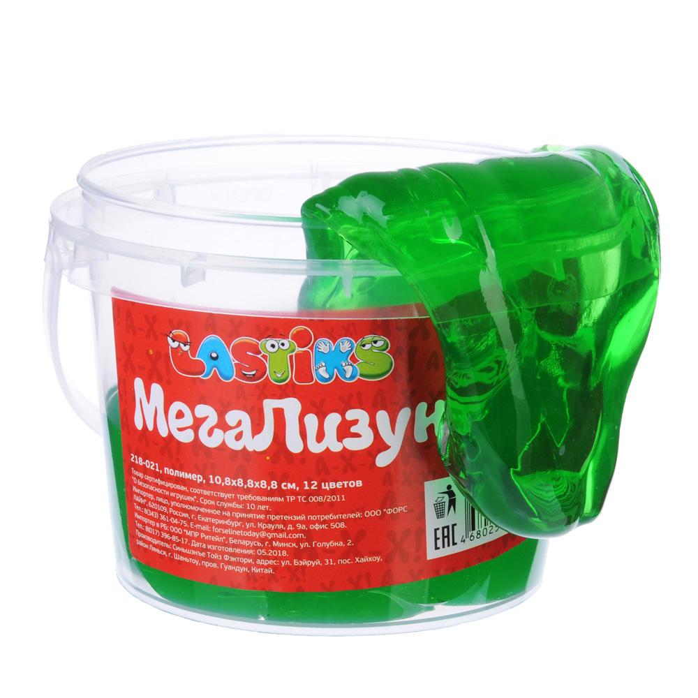 LASTIKS МегаЛизун, ведро 500г, полимер, 10,8х8,8х8,8 см, 12 цветов - 3