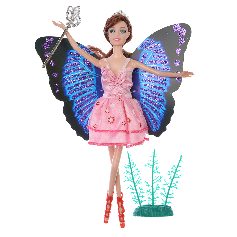 Кукла с крыльями 29см, пластик, полиэстер, 9х29х3см, 2 дизайна - 2