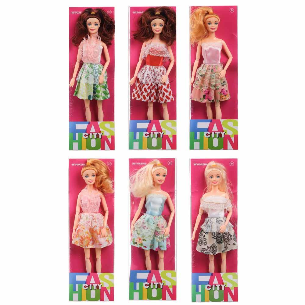 ИГРОЛЕНД Кукла в стильной одежде, шарнирная, 29см, PP,PVC, полиэстер, 6дизайнов - 2