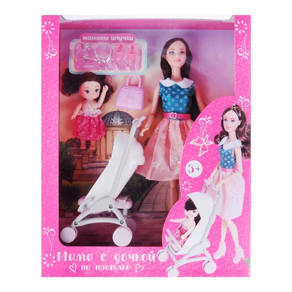 ИГРОЛЕНД Кукла с аксессуарами, 7-12 пр., ABS,PVC, полиэстер, 18х32х6,5см, 3 дизайна - 3