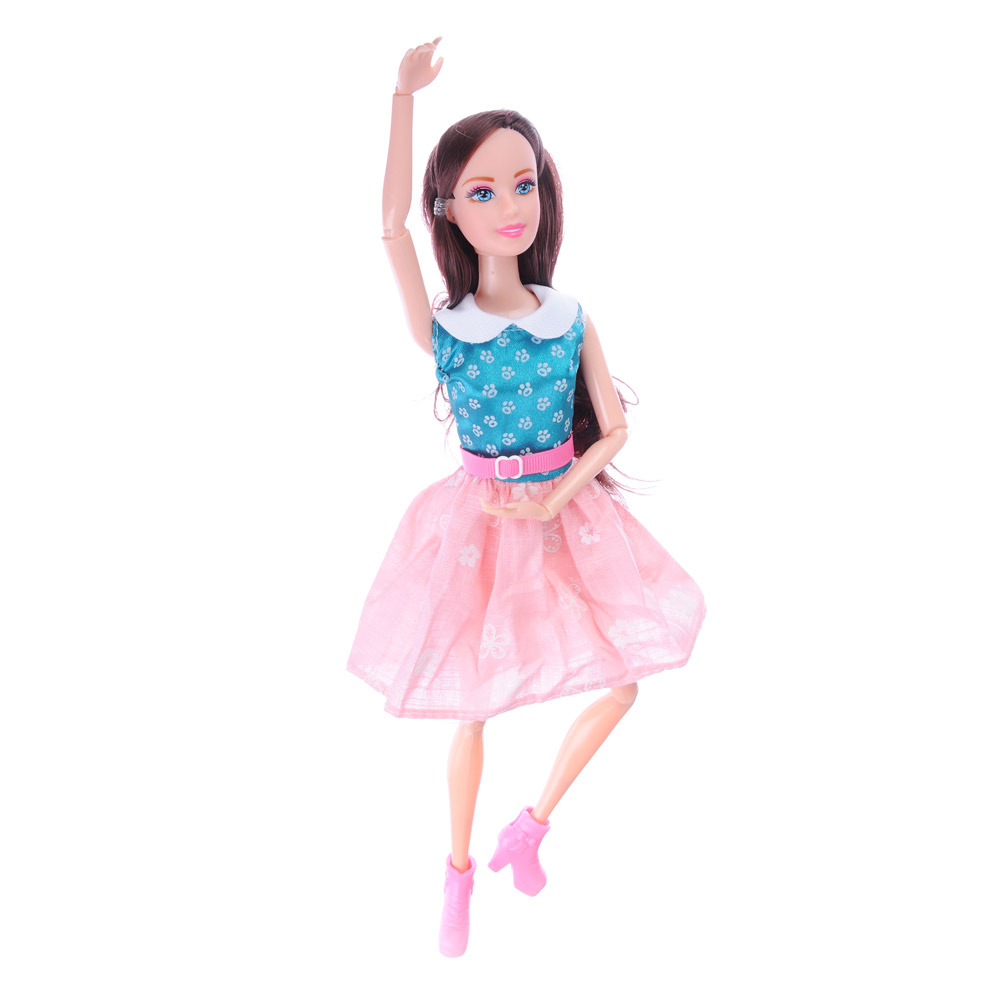 ИГРОЛЕНД Кукла с аксессуарами, 7-12 пр., ABS,PVC, полиэстер, 18х32х6,5см, 3 дизайна - 4