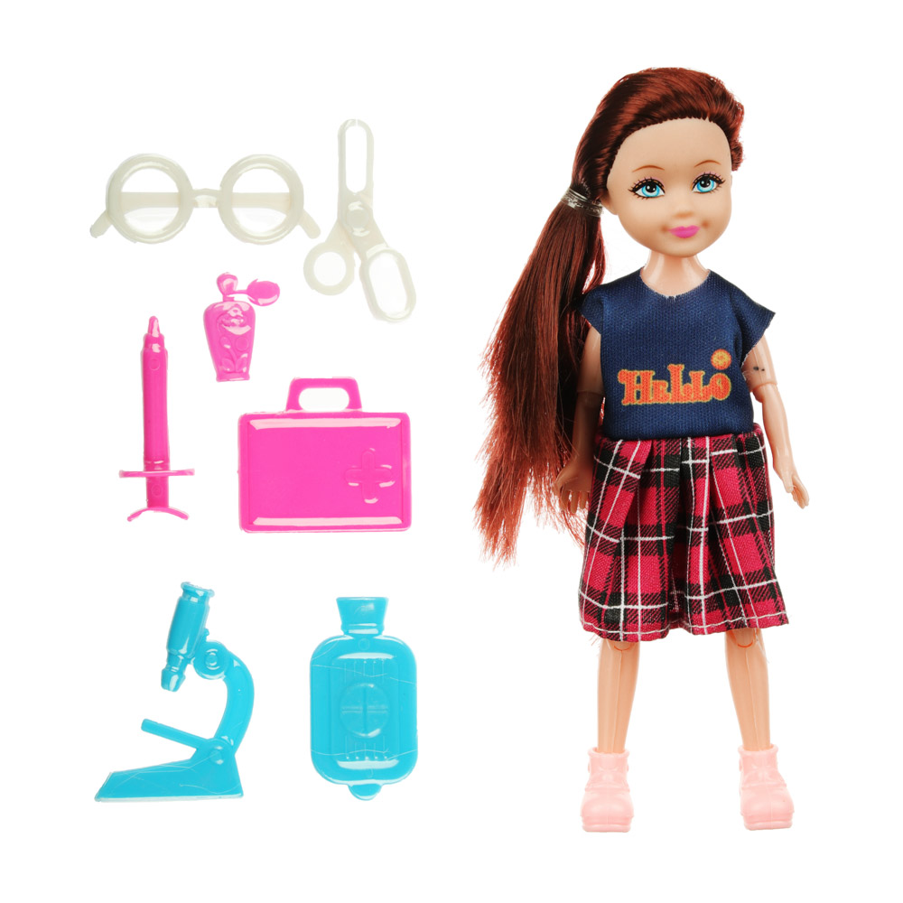 ИГРОЛЕНД Кукла в виде малышки с аксессуарами, PVC, полиэстер 25х19, 5х10см, 4 дизайна - 2