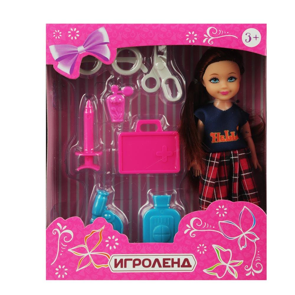 ИГРОЛЕНД Кукла в виде малышки с аксессуарами, PVC, полиэстер 25х19, 5х10см, 4 дизайна - 5
