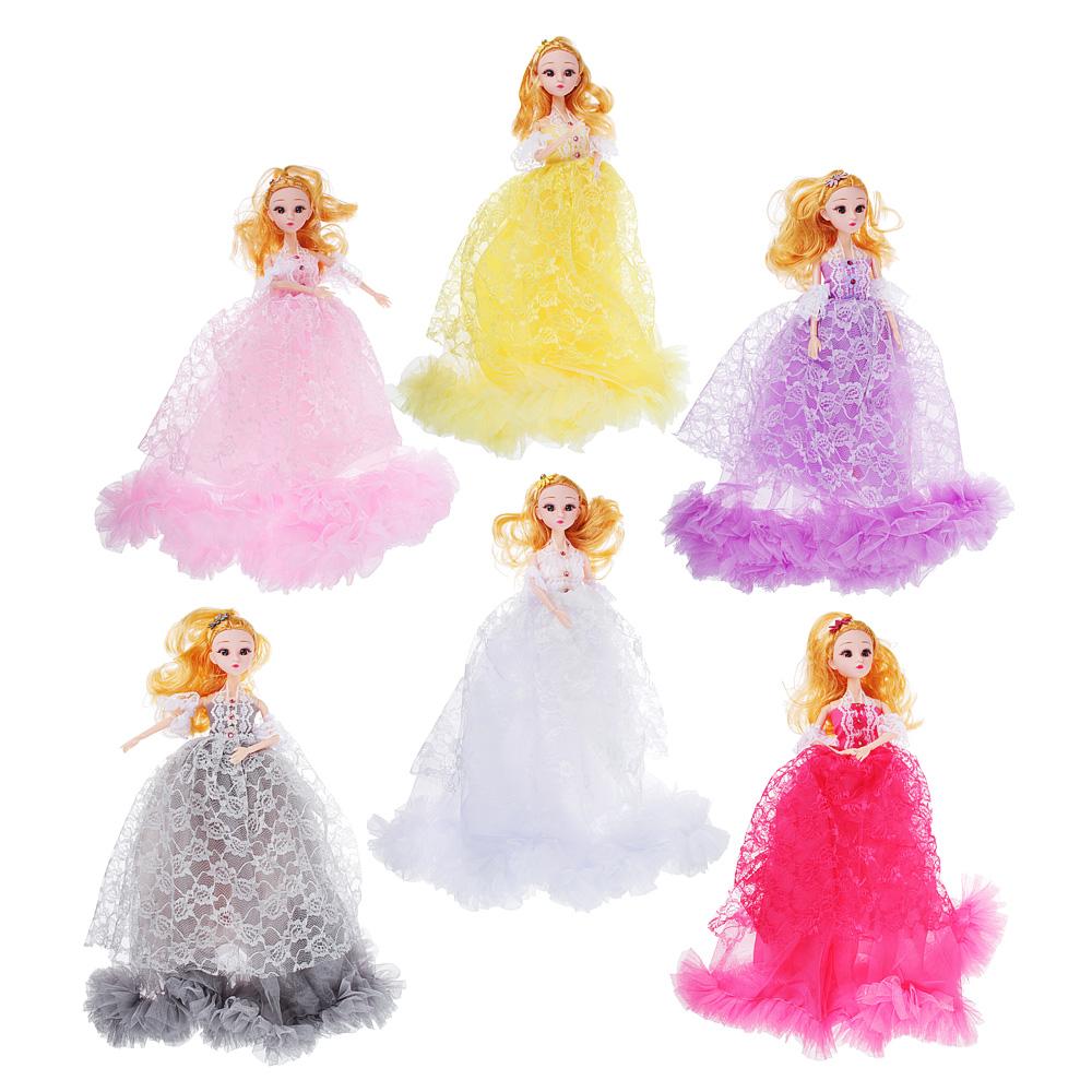 Кукла в пышном наряде, шарнирная, 30см, пластик, полиэстер, 4-6 цветов - 2