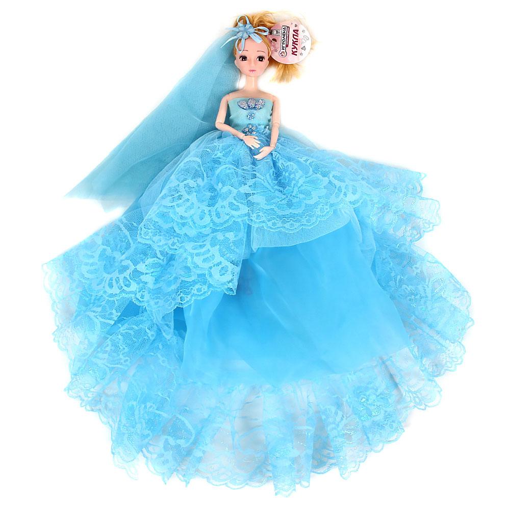 Кукла в пышном наряде, шарнирная, 30см, пластик, полиэстер, 4-6 цветов - 4