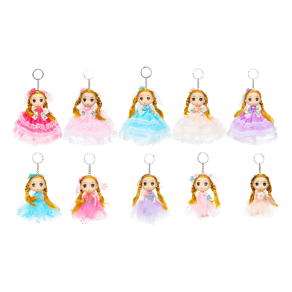 ИГРОЛЕНД Брелок куколка, 12-15см, пластик, полиэстер, 2 дизайна, 5-10 цветов - 2