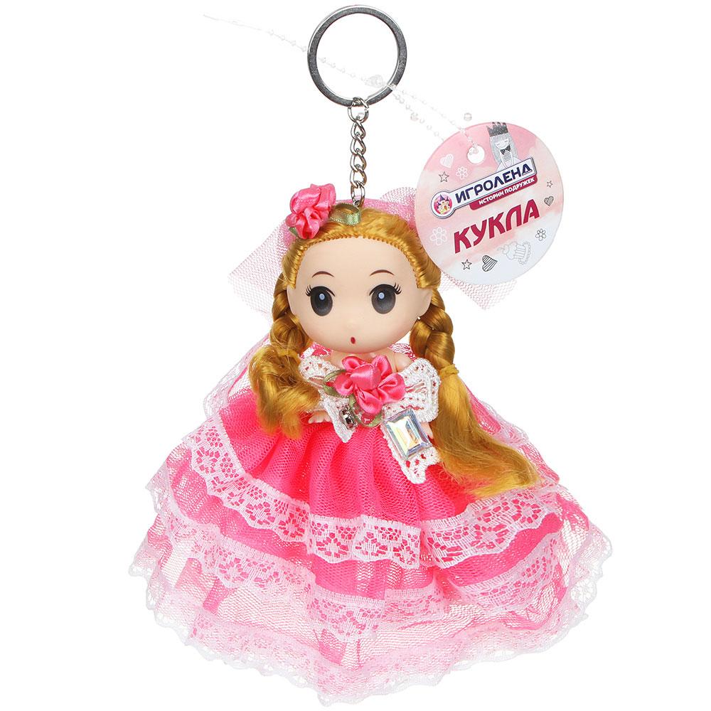 ИГРОЛЕНД Брелок куколка, 12-15см, пластик, полиэстер, 2 дизайна, 5-10 цветов - 3
