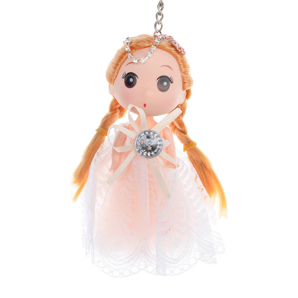 Кукла-брелок в пышном наряде, 12см, пластик, полиэстер,4-6 цветов - 2