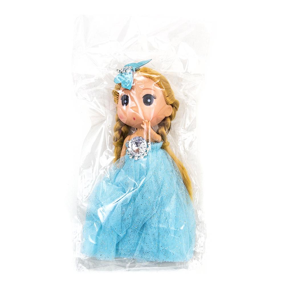Кукла-брелок в пышном наряде, 12см, пластик, полиэстер,4-6 цветов - 4