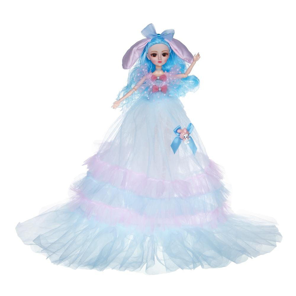 ИГРОЛЕНД Кукла в пышном свадебном наряде, 30см, пластик, полиэстер, 4-8 цветов - 3