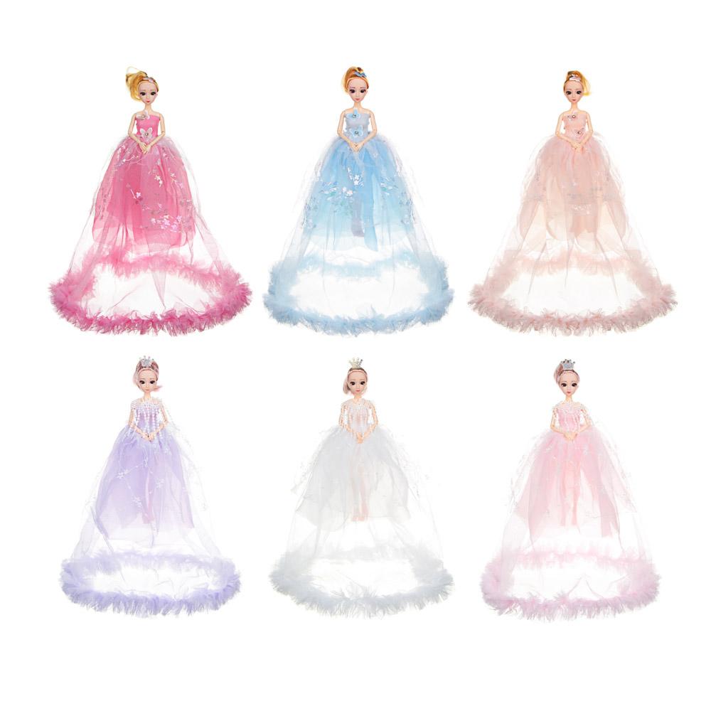 Кукла в пышном платье, 30см, пластик, полиэстер, 2 дизайна, 5-8 цветов - 2