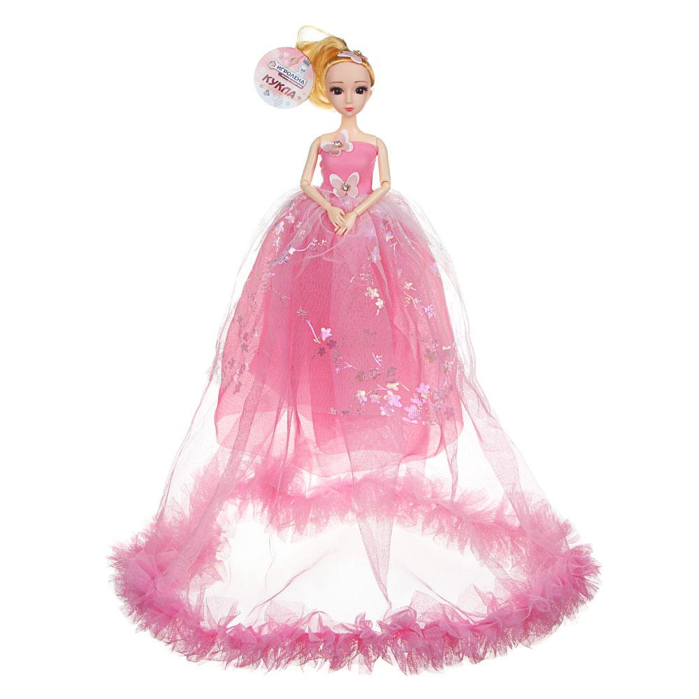 Кукла в пышном платье, 30см, пластик, полиэстер, 2 дизайна, 5-8 цветов - 3