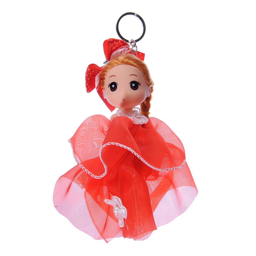 Кукла-брелок в пышном наряде, 15-18см, пластик, полиэстер, 2-4 дизайна, 3-6 цветов - 2