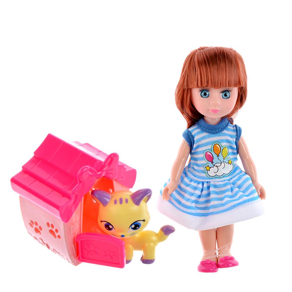 """Игровой набор кукла """"Классика"""", 22-24см, с питомцем, пластик, полиэстер, 2 дизайна - 3"""