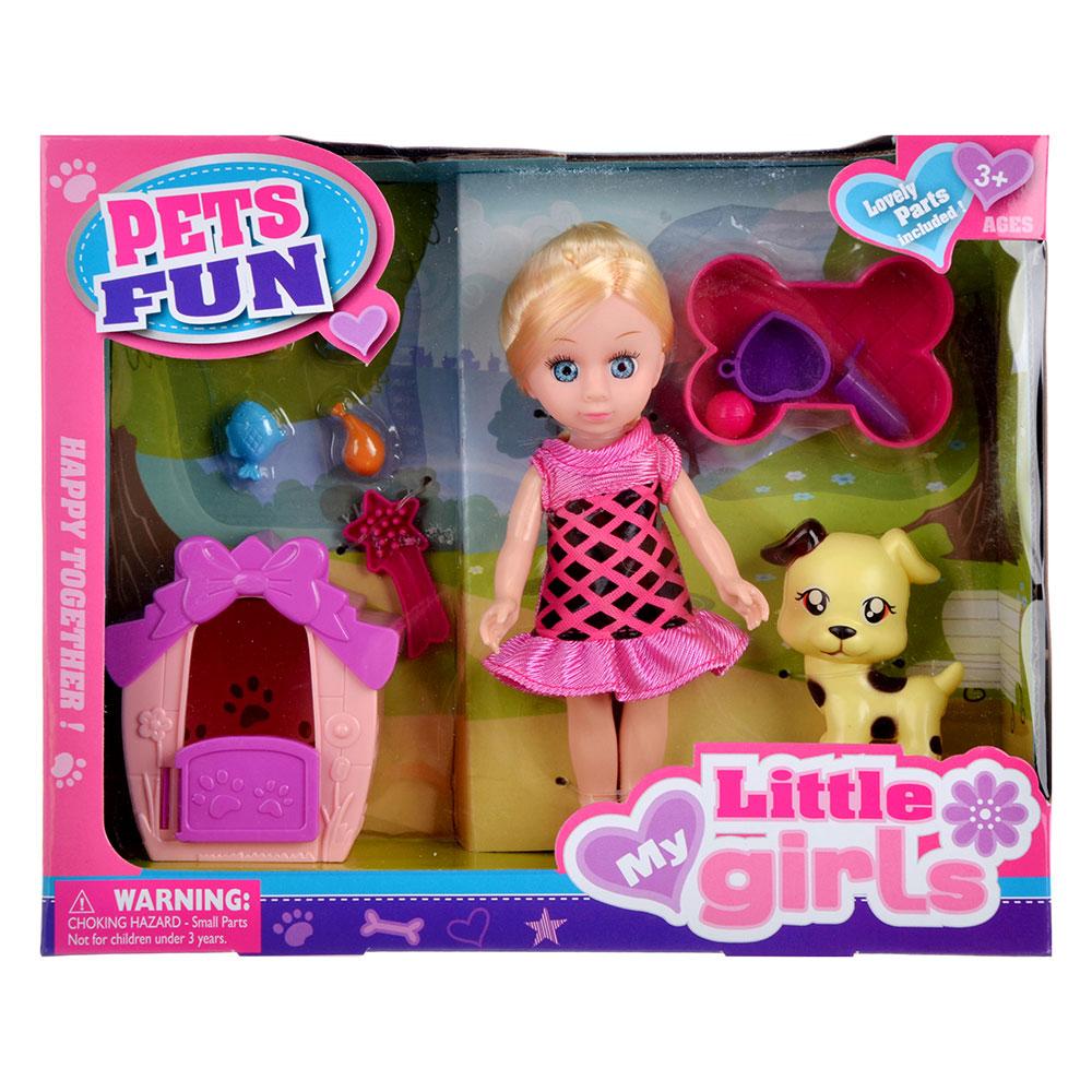 """Игровой набор кукла """"Классика"""", 22-24см, с питомцем, пластик, полиэстер, 2 дизайна - 4"""