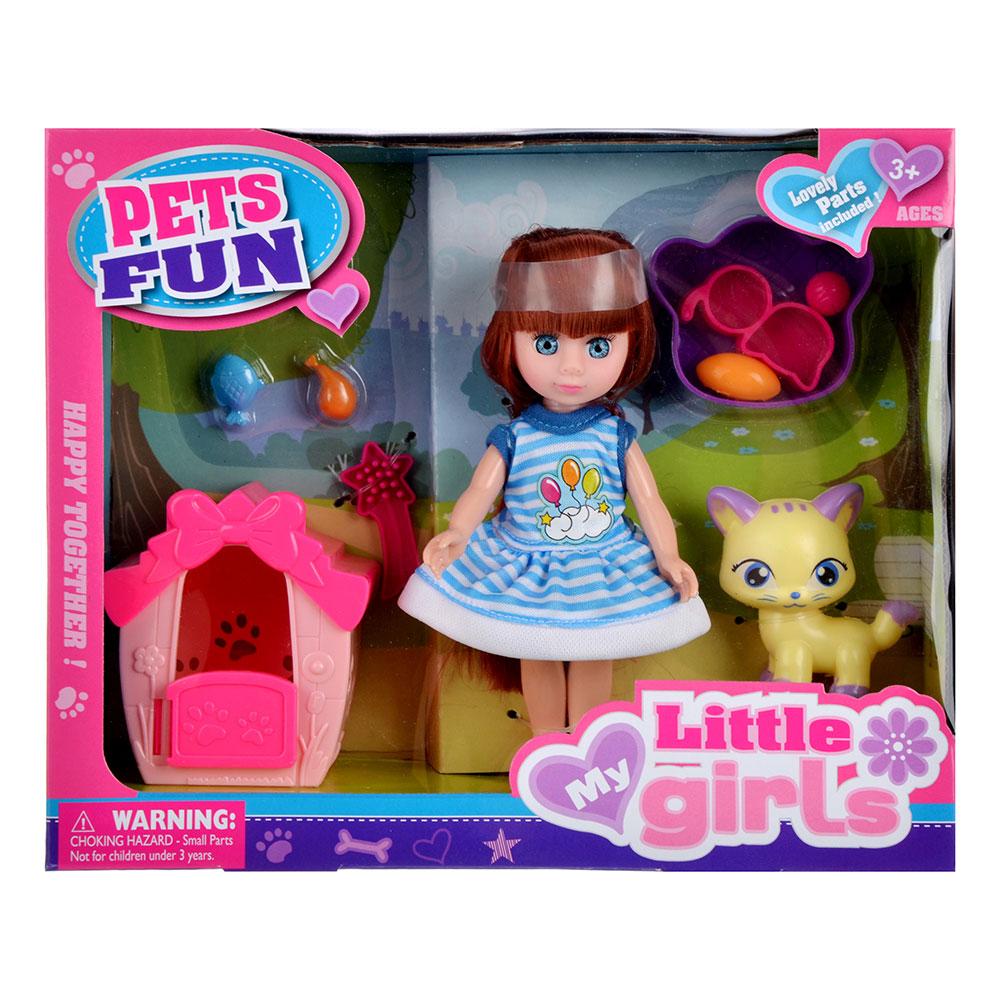 """Игровой набор кукла """"Классика"""", 22-24см, с питомцем, пластик, полиэстер, 2 дизайна - 5"""