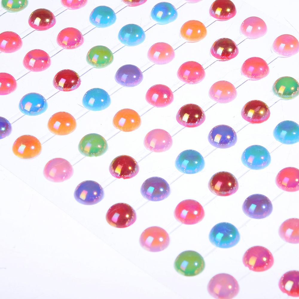 Стразы самоклеящиеся для декорирования, пластик, 10х20-30х0,5см, 4-12 цветов - 3