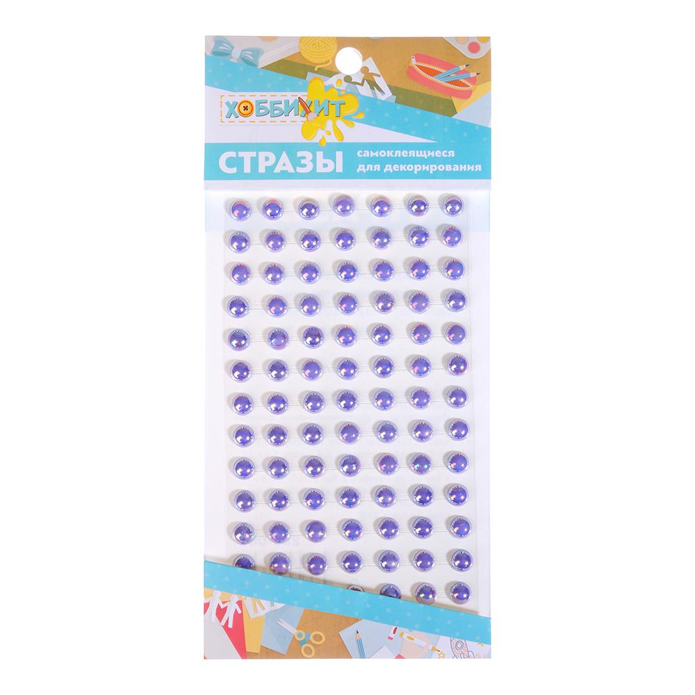 Стразы самоклеящиеся для декорирования, пластик, 10х20-30х0,5см, 4-12 цветов - 4