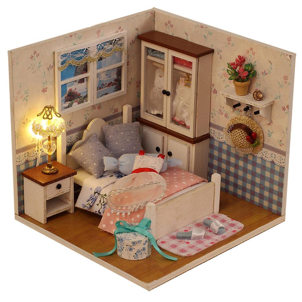 Миниатюрная комната, сборная: свет, 100-120дет., клей, дер., текст., 11,5х11,5х12см, 2-4 дизайна - 2