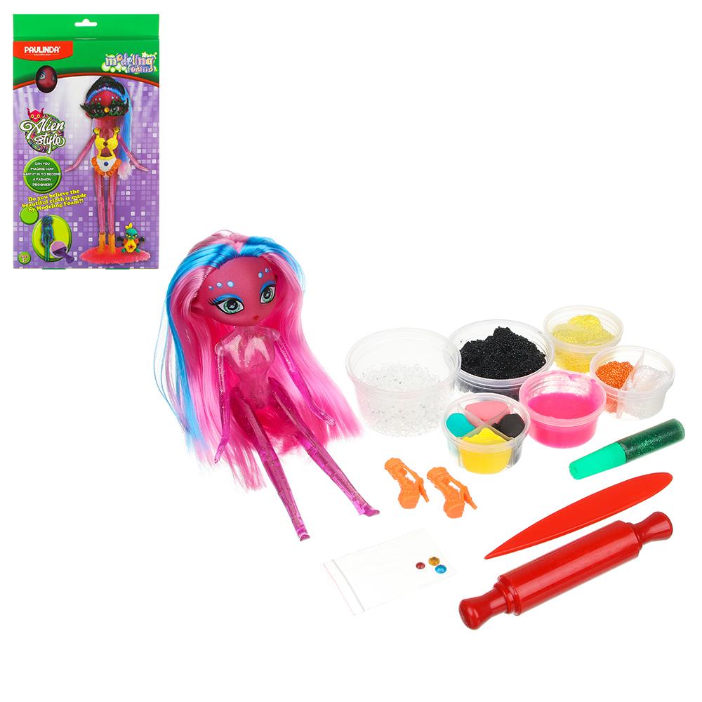 ХОББИХИТ Набор для творчества Наряди куклу, пластик, полимер/полиэст., 16-21х5х31-33см, 3-6 дизайнов - 2