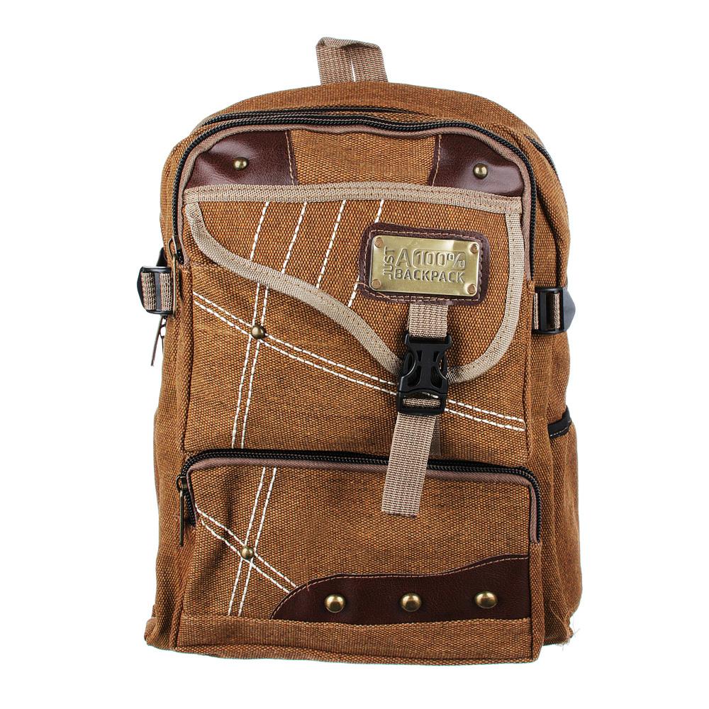 Рюкзак подростковый 41x31x15см, мягкий, 1 отдение на молнии, 4 кармана, металл, 2 цвета - 2