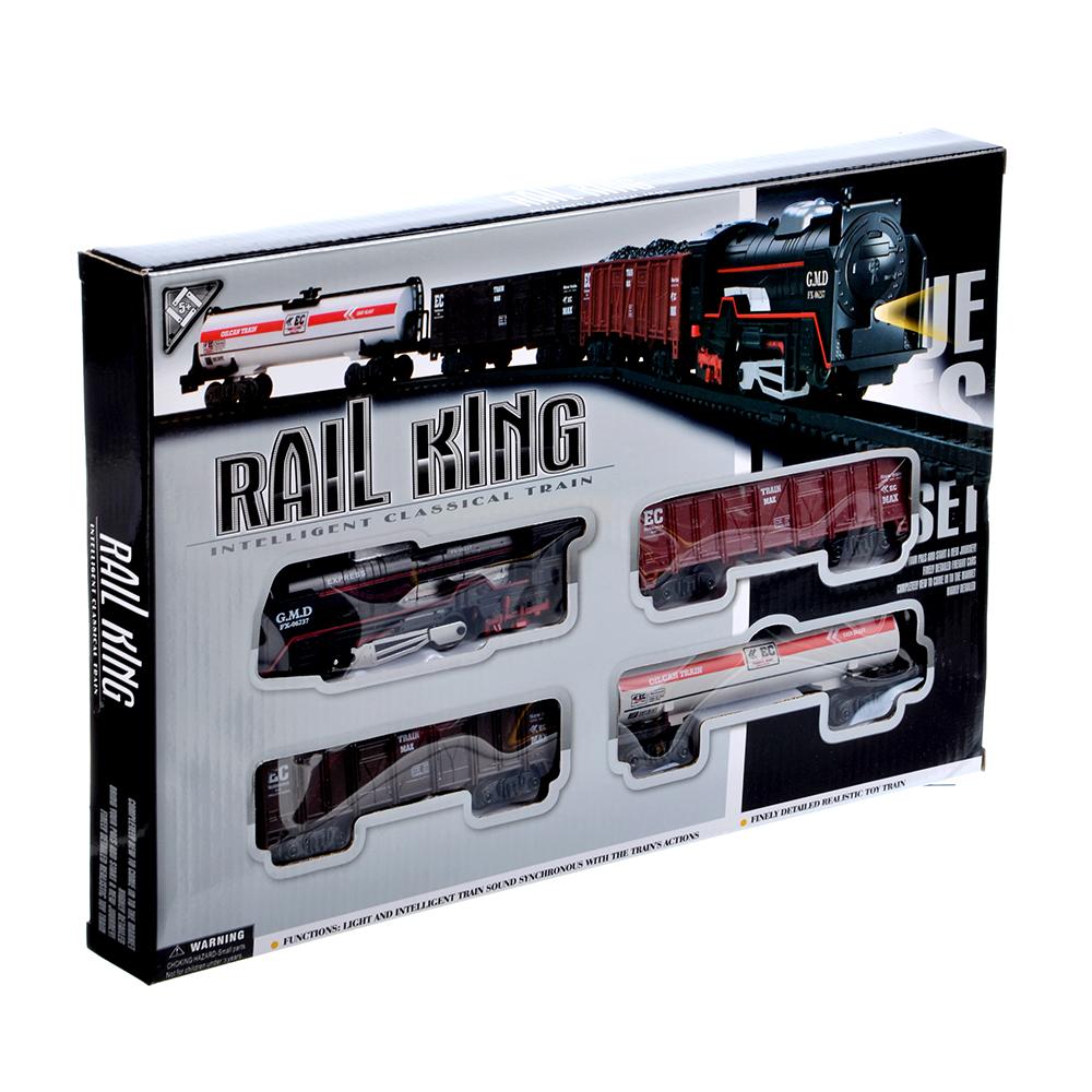 ИГРОЛЕНД Поезд с железнодорожными путями 240см, на батарейках, 2АА, пластик, 35х24х4см - 2