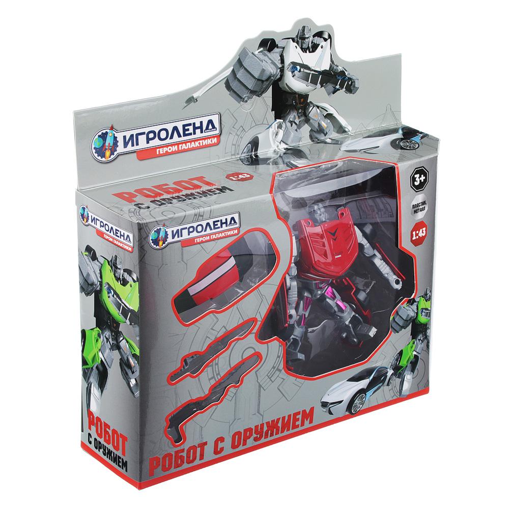ИГРОЛЕНД Игрушка в виде Робота трансформирующегося, пластик, 12х16х3,5см, 4 дизайна - 4