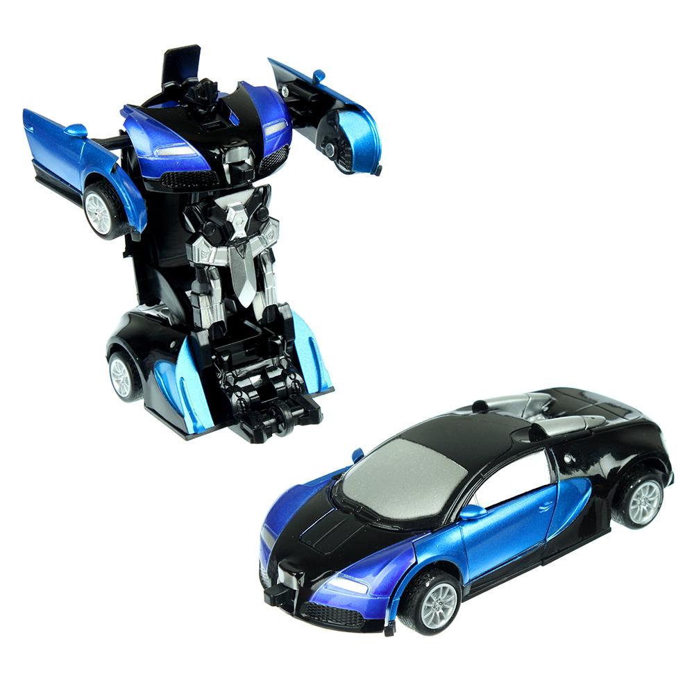 ИГРОЛЕНД Игрушка в виде Робота-машины трансформирующегося, металл, пластик, 12х2х5см, 2 дизайна - 2