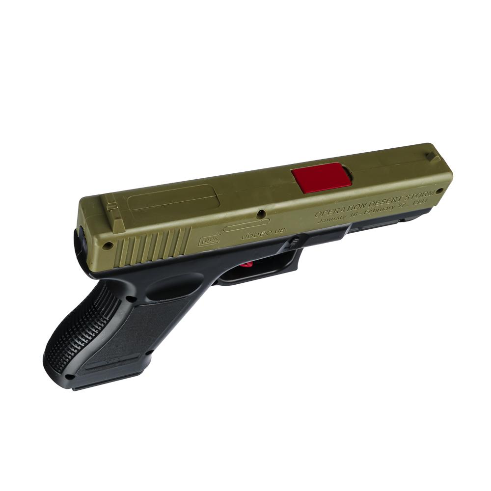 ИГРОЛЕНД Пистолет с пулями гидрогель, ABS, полимер, 28-33х18-28х3-5см, 2 дизайна - 3