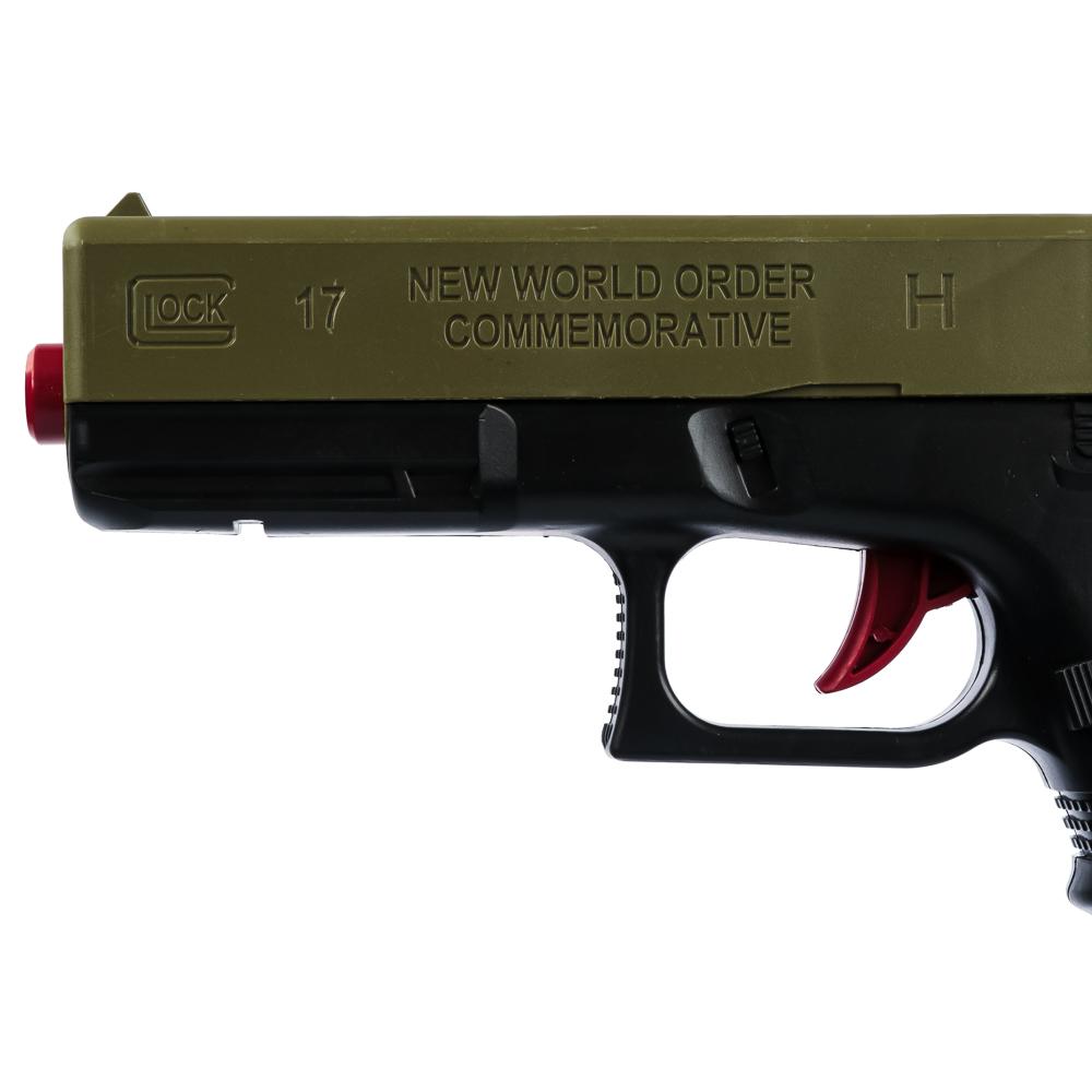 ИГРОЛЕНД Пистолет с пулями гидрогель, ABS, полимер, 28-33х18-28х3-5см, 2 дизайна - 6
