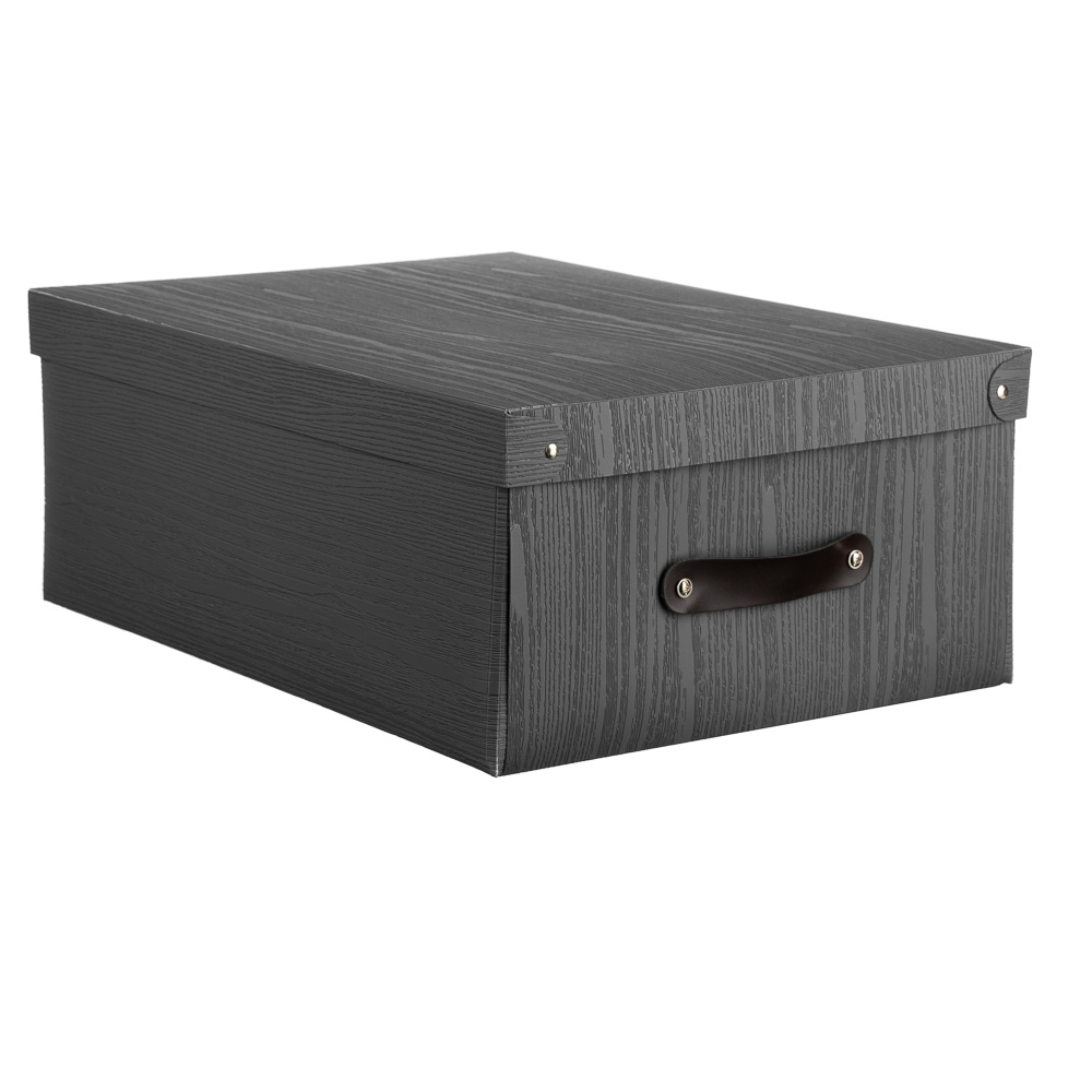Короб для хранения складной с ручкой VETTA, 37,5х28х15 см, 3 дизайна, пластик - 2