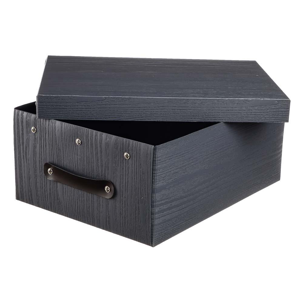 Короб для хранения складной с ручкой VETTA, 37,5х28х15 см, 3 дизайна, пластик - 4