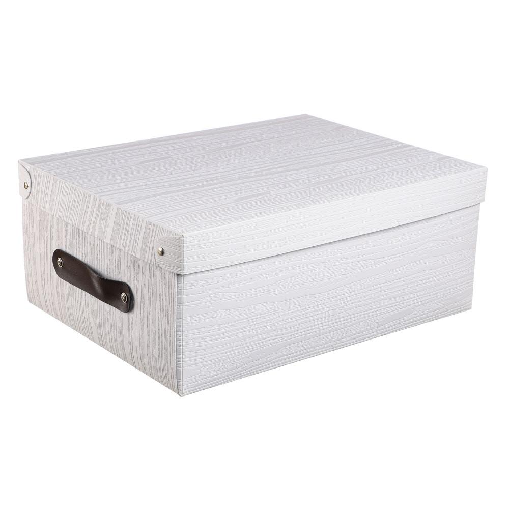 Короб для хранения складной с ручкой VETTA, 37,5х28х15 см, 3 дизайна, пластик - 6