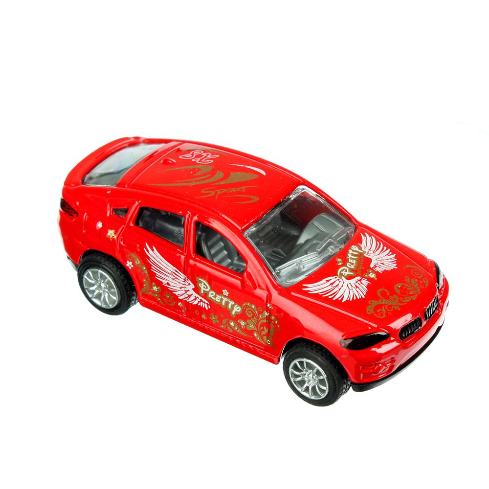 Машинка Классическая 8см, металлическая, инерционная, 8х2х3,5см, 4 дизайна - 2