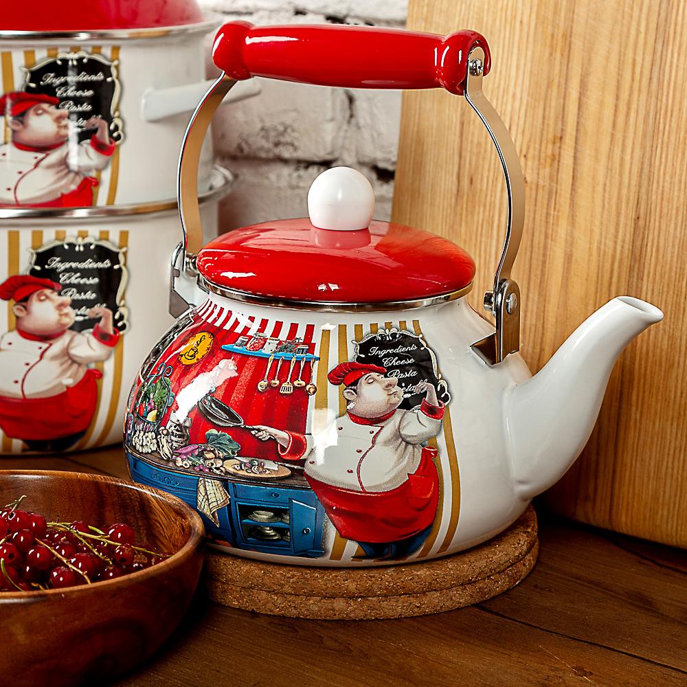 Чайник 2,5 л VETTA Повар, эмалированный, индукция - 2