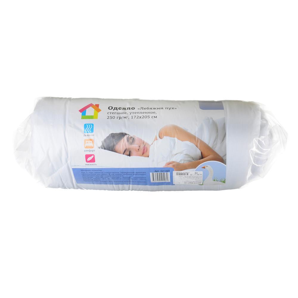 """Одеяло """"Лебяжий пух"""", стеганое, утепленное, 250гр/м, полиэстер, 172х205см - 6"""