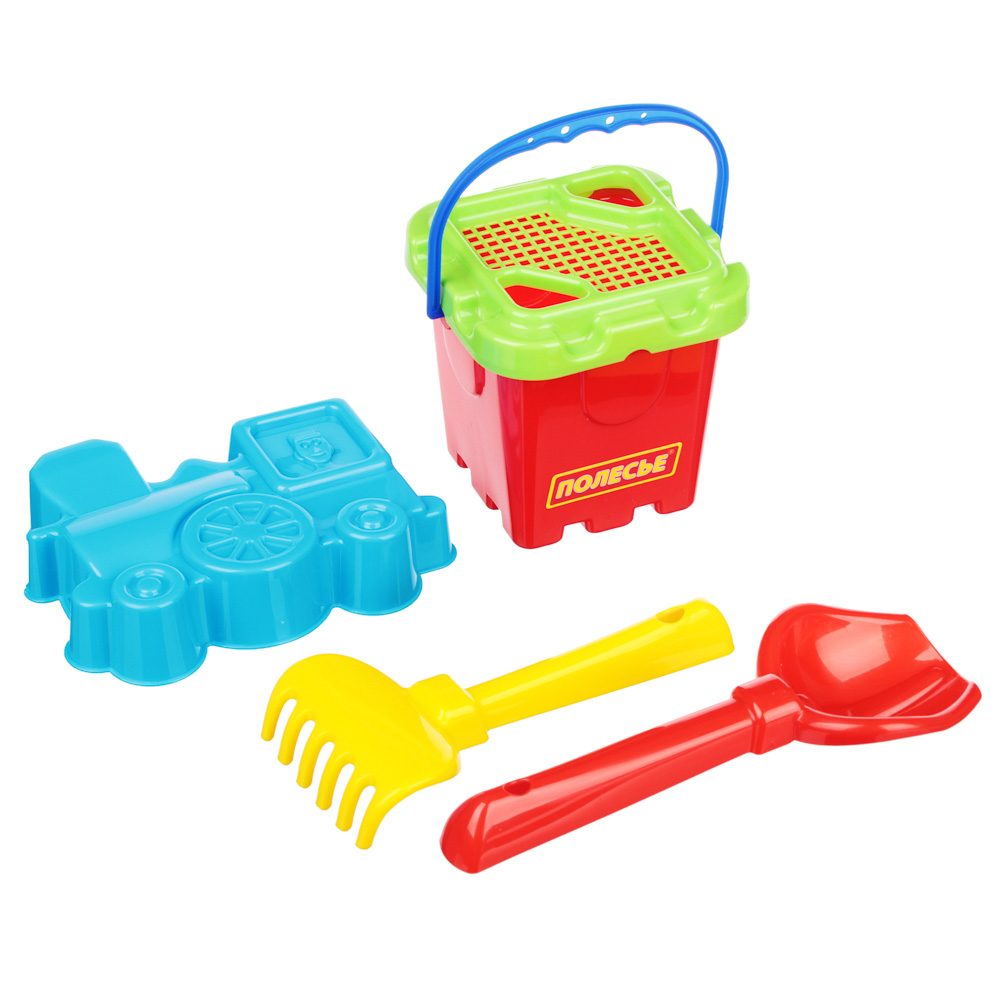 ПОЛЕСЬЕ Набор для песочницы с Малым ведром 5-7 пр., пластик, 13х18х14см, 3 дизайна - 2
