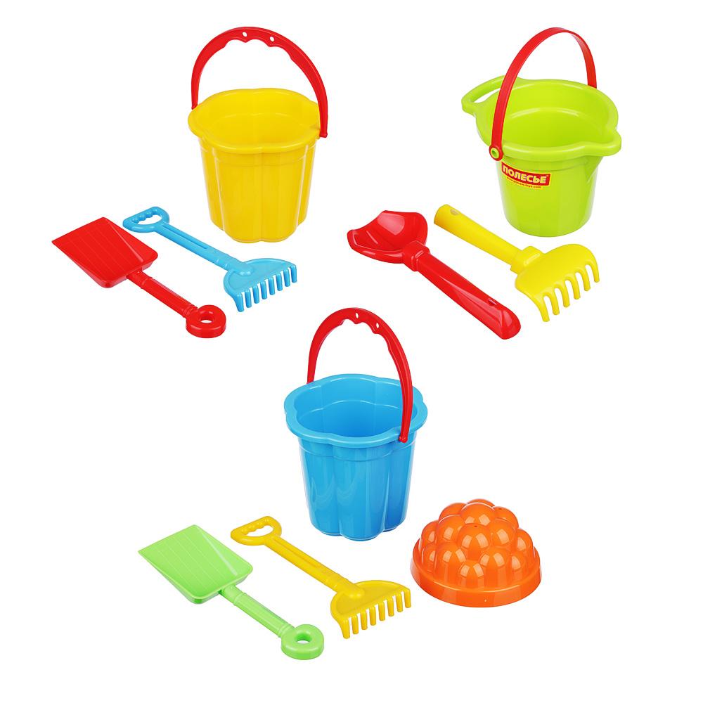 ПОЛЕСЬЕ Набор для песочницы с Малым ведром 2-3 пр., пластик, 10х15х12см, 3 дизайна - 2