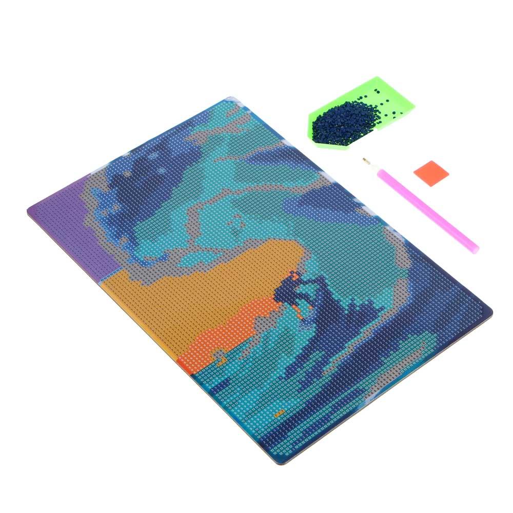 ХОББИХИТ Картина из страз, комплект (стразы, основа, палочка), 20х30см, 10 дизайнов - 4