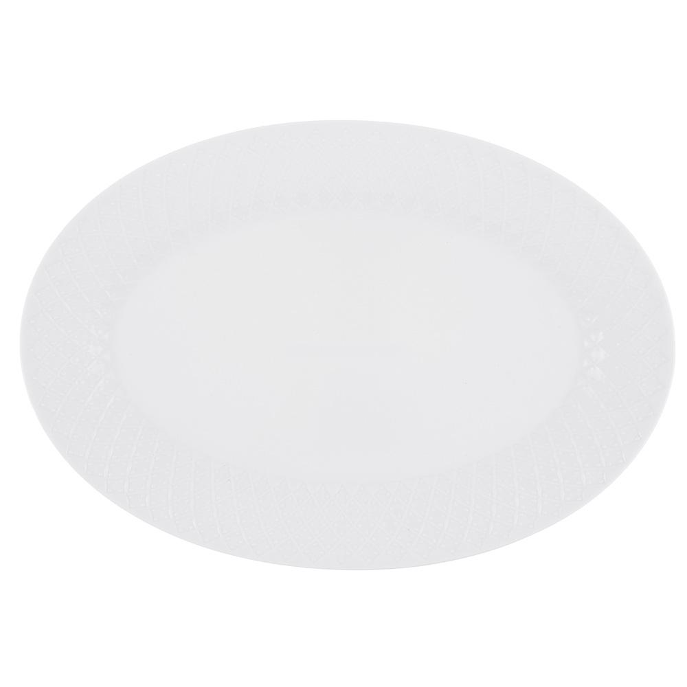 """Блюдо овальное фарфоровое, 30,5х21 см, рельеф, MILLIMI """"Жемчуг"""" - 2"""
