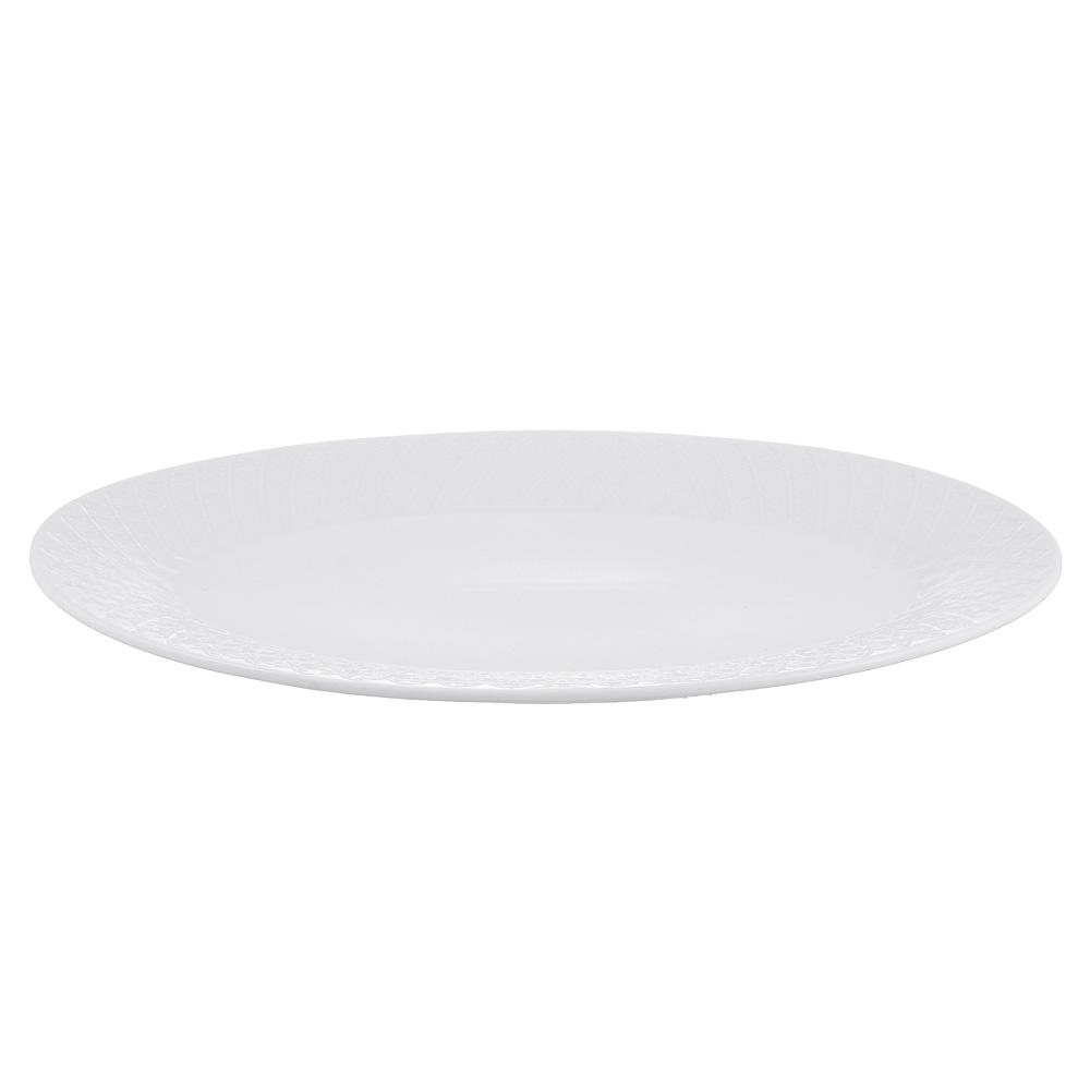 """Блюдо овальное фарфоровое, 30,5х21 см, рельеф, MILLIMI """"Жемчуг"""" - 4"""
